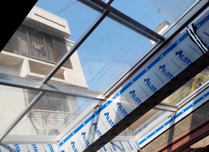 Aluminium Frame Roof Sliding System & Roof Sliding Systems Sound Proof Partitions Aluminium Sliding ...